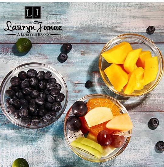 "Lauryn Janae ""3.5″ Inch Stackable Glass Prep Bowl"""