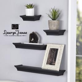 Lauryn Janae Floating Wall Shelf Black