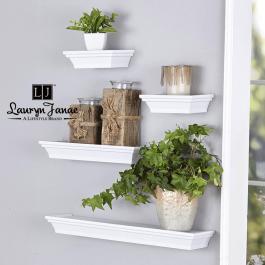 Lauryn Janae Floating Wall Shelf White
